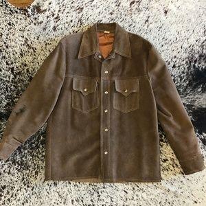 SOLD Vintage Men's Mexican Western  Cowhide Jacket